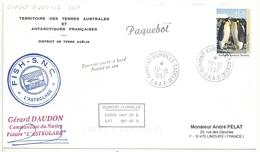 YT 94 Manchot Empereur - Posté à Bord De L'Astrolabe - Paquebot - Dumont D'Urville - 30/10/1997 - Brieven En Documenten