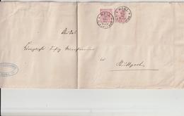 Wuerttemberg / 1888 / Dienst-Ganzsachenumschlag Mi. DU 11B Mit Zusatzfrank., K1 HALL (AP29) - Wurtemberg