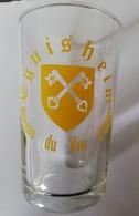 """Verre à Vin Décoré Des Armoiries D'Eguisheim """"Berceau Du Vin D'Alsace"""" (vers 1990) - Glasses"""