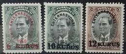 TURQUIE TURKEY N° 936 à 938 COTE 3,50 € 1940 NEUFS ** MNH 9ème FOIRE INTERNATIONALE D'IZMIR (SMYRNE) - 1921-... République