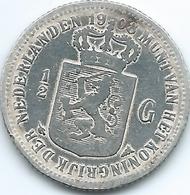 Netherlands - Wilhelmina - 1908 -½ Gulden - KM121.2 - 1/2 Gulden