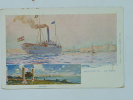 Brod 222  Ship Vapore Dampfer Lloyd 1911 Carola Ed Phillip I Kramer Malta - Steamers