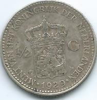Netherlands - Wilhelmina - 1929 -½ Gulden - KM160 - 1/2 Gulden