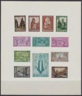 363/374 ORVAL 1933 PRIVE HERDRUK ONGETAND VEL MNH ** REIMPRESSION PRIVEE NON-DENTELE FEUILLET - Belgien