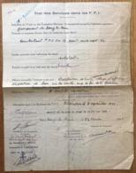 France - WW2 - Etat Des Services Dans Les F.F.I. - (B1660) - Historical Documents