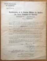 France - WW2 - Régularisation De Situation Militaire Des Membres Des F.F.I - (B1672) - Historical Documents