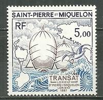 SAINT PIERRE ET MIQUELON MNH ** 477 Course Transatlantique Lorient Voile Voilier Bateau Navire Boat - Unused Stamps