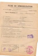 B2  10 10 1941 A Nantes Fiche De Démobilisation Par Ordre Des Autorités Allemandes D'un Capitaine Francais - Marcophilie (Lettres)