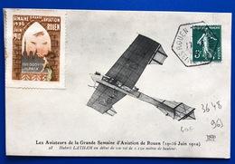 1910 CARTE Avec Cachet ROUEN AVIATION - 1877-1920: Période Semi Moderne