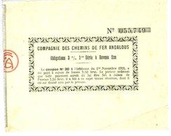 Compagnie Des Chemins De Fer Andalous Obligation 3% 9 X 11 Cm - Chemin De Fer & Tramway