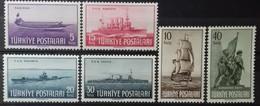 TURQUIE TURKEY N° 1087 à 1092 COTE 10 € 1949 NEUFS ** MNH JOURNEE DE LA MARINE - 1921-... République