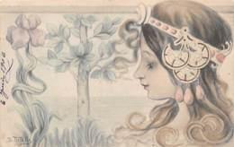 Illustrateur PATELLA - Tete De Femme Art Nouveau - Illustrators & Photographers