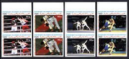Mauritanie A 247/50 Paires Imperforées ,  J-O De Séoul , Judo , Escrime , Lutte , Boxe - Summer 1988: Seoul