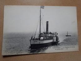 Carteret - Le Bateau De Jersey En Pleine Mer (provient D'un Carnet) - Carteret