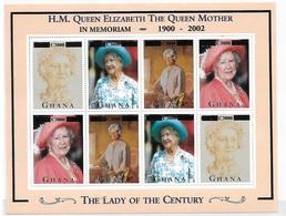 Ghana 2002 Queen Elizabeth II QE Sheet Surcharged MNH - Ghana (1957-...)