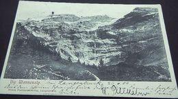 """Schweiz Suisse 1906: """"Die Wannenalp"""" Mit O LANGENBRUCK 26.VI.06 (BASELLAND) Nach COLMAR 27.6.06 (ELS) - BL Basel-Land"""