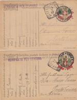 """9817-N°. 4 FRANCHIGIE 1° GUERRA-""""POSTA MILITARE 6° UFFICIO D'ARMATA"""" - 1917 - 1900-44 Victor Emmanuel III"""