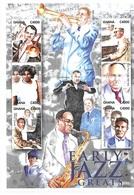 Ghana 2001 Jazz Musicians Music Sheet MNH - Ghana (1957-...)