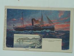 Brod 231 Ship Vapore Dampfer Lloyd 1905 Stephanie  Ed  Philipp I Kramer Ragusa Dubrovnik - Steamers