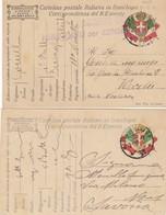 """9818-N°. 4 PEZZI(TRE FRANCHIGIE E UNA LETTERA)- 1° GUERRA-""""POSTA MILITARE 17"""" - 1917 - Marcophilia"""