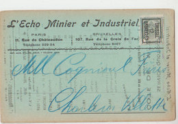Carte Postale Industrielle  Montigny Le Tilleulecho Minier  1912  PREO - Precancels