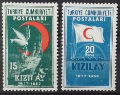 TURQUIE TURKEY N° 1168 à 1169 COTE 5,50 € 1952 NEUFS ** MNH FONDATION DU CROISSANT ROUGE - 1921-... Republic