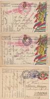 """9820-N°. 3 FRANCHIGIE- 1° GUERRA-""""POSTA MILITARE-CONCENTR. SEZIONE E.P."""" - 1918 - Marcophilia"""