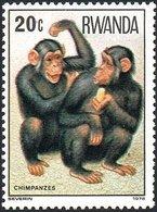 Rwanda - 1978 - Mi:RW 922, Sn:RW 857, Yt:RW 820**MNH - Look Scan - Chimpancés