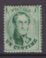 N° 13 B  X  Neuf Avec Gomme Et Charniere Retouche Lignes Du Fond  COB 95.00 - 1863-1864 Medallions (13/16)