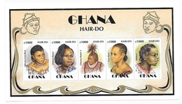 Ghana 1997 African Hair Styles Sheet MNH - Ghana (1957-...)