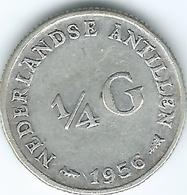 Netherlands Antilles - Juliana - 1956 -¼ Gulden - KM4 - Nederlandse Antillen