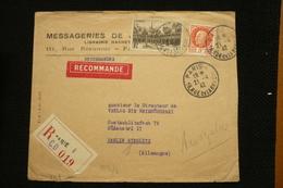 Perfin Pétain Et N°499 Hotel Dieu Beaume Perforé HM Sur Lettre R Censurée Vers Allemagne 1942 Hachette - France