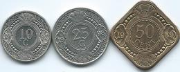 Netherlands Antilles - 10 (1992) 25 (1998) & 50 Cents (1989) (KMs 34-36) - Antillen (Niederländische)