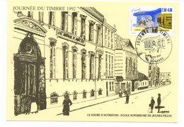Carte Maximum 1992 - Journée Du Timbre - YT 2743 - 76 Le Havre - Cartes-Maximum