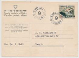 WK II - Soldatenmarke Auf Militärpostkarte 111 KOMMANDOSTÄBE - Br. Mont. 9 - Posta Militare