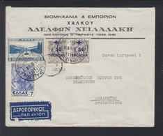 Griechenland Greece Flugpost 1938 Nach Osnabrück - Greece