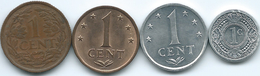 Netherlands Antilles - 1 Cent - 1959 (KM1) 1970 (KM8) 1984 (KM8a) & 1989 (KM32) - Antillas Nerlandesas