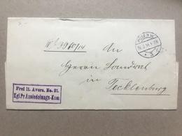 GERMANY WW1 Feldpost Wrapper 1914 Posen To Tecklenburg `Ansiedelungs Kommission` - Cachet And Seal To Rear - Deutschland