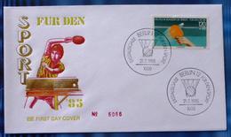 1985 Germany FDC Stamp Cover-'Sport-Table Tennis' DX-786 - Brieven En Documenten
