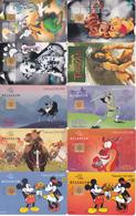 20 Télécartes DISNEY Lot1 - Disney