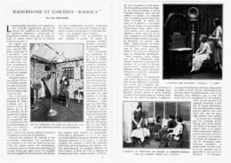 RADIOPHONIE Et CONCERTS  ( RADIOLA )  1923 - Ciencia & Tecnología