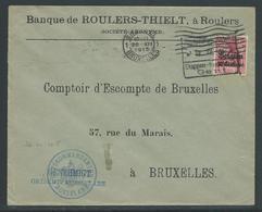 Brief Verstuurd Van Roeselare Naar Brussel 20.12.1915 - Guerre 14-18
