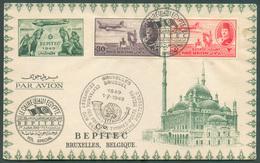 Enveloppe Commémorative De L'Egypte à BEPITEC 1949 Obl. Dc BRUXELLES Centenaire Des Premiers Timbres-postes Belge 1-7-19 - Ägypten