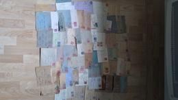 65 Lettres Période 1934-54, Pour Timbres Ou Oblitérations, Divers états, Majorité 43-48, Certaines Avec Correspondances. - Poststempel (Briefe)