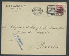 Brief Verstuurd Van Roeselare Naar Brussel 3.4.16 - Guerre 14-18