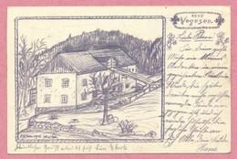 Vogesen - 68 - Secteur ORBEY - Ferme à Localiser - Feldpostkarte Dessinée à La Main - 6. Bay. Landwehr - Guerre 14/18 - France