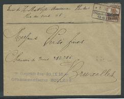 Brief Verstuurd Van Roeselare Naar Brussel 30.9.16 - Guerre 14-18