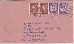 England - 2x3+2x2 1/2P. Elizabeth Perin C&B Brief Walkden - München 1961 - Grande-Bretagne