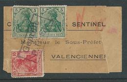 Drukwerkband Verstuurd Naar Valenciennes - Guerre 14-18