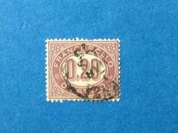 1875 ITALIA REGNO FRANCOBOLLO DI STATO 0,20 FRANCOBOLLO USATO ITALY STAMP USED - 1861-78 Vittorio Emanuele II